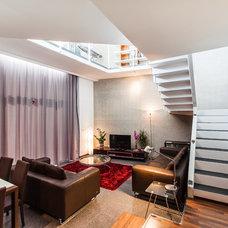 Contemporary Living Room by DeMicoli & Associates