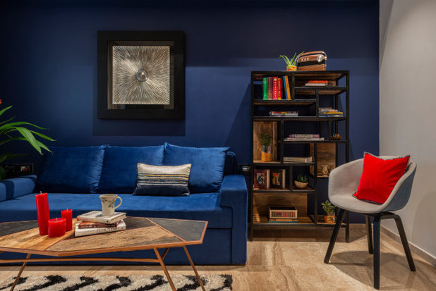 Eclectic Family Room by Anushka Contractor