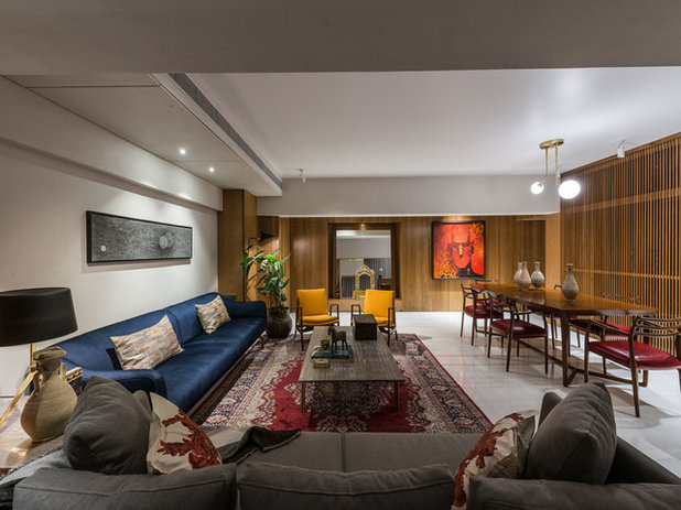 Contemporary Living Room by ns*a Architecture and Interiors
