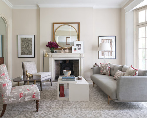 Design Ideas For A Traditional Formal Living Room In London With Beige Walls Standard