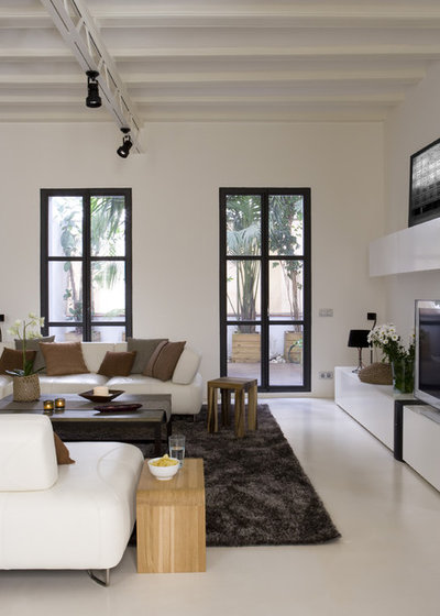 Contemporary Living Room by YLAB Arquitectos Barcelona