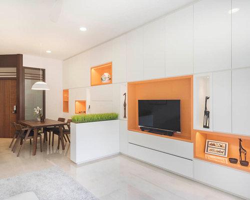 inspiration fr mittelgroe reprsentative abgetrennte moderne wohnzimmer ohne kamin mit weier wandfarbe marmorboden - Marmorboden Wohnzimmer