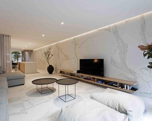 wohnzimmer mit marmorboden ideen design bilder houzz. Black Bedroom Furniture Sets. Home Design Ideas
