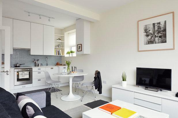 コンテンポラリー リビング by houseology