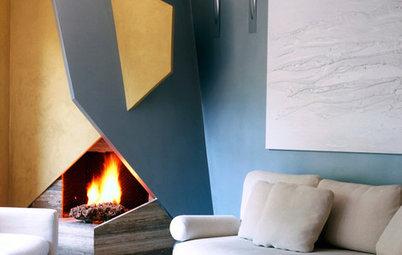 Origami-Kamin, Treppe aufm Kopf... 5 Houzz-Ideen der Woche