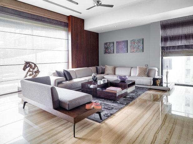 Contemporary Living Room by Rakeshh Jeswaani Interior Architects