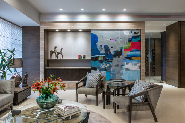 Contemporary Living Room by Rakeshh Jeswaani Interior Architects