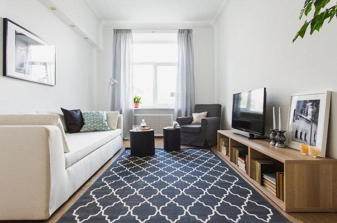 Transitional Living Room by Anna Kovalchenko Interiors