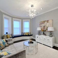 Contemporary Living Room by KBR Design & Build