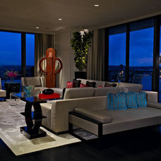 Contemporary Living Room by Montgomery Roth Architecture & Interior Design