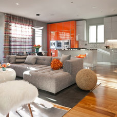 Contemporary Living Room by Sho-Con by Khrome Studios