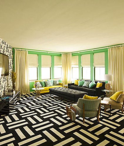 Eclectic Living Room by BeauIdeal Inc. Interior Design
