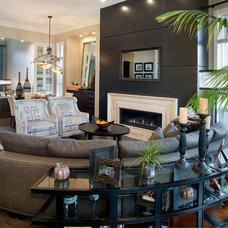 Transitional Living Room by Albi Renova