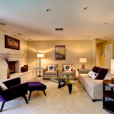 Contemporary Living Room by Elle Interiors, Ellinor Ellefson