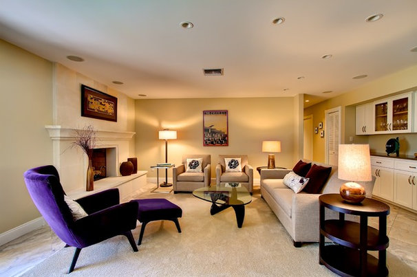 Grey Pink And Purple Living Room
