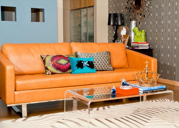 Modern Living Room by Red Egg Design Group