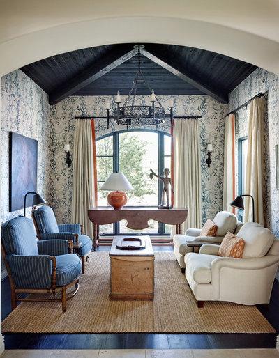 Mediterranean Living Room By Wiseman Gale Interiors