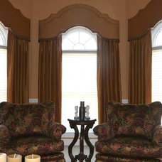 Traditional Living Room by Exciting Windows by Couture by Karen Inc.