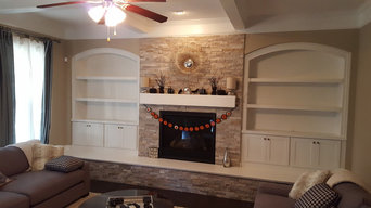 Arched Fireplace Built-in Suwanee