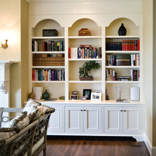 Traditional Living Room by Hostetler Custom Cabinetry