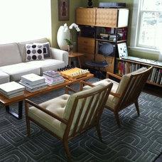 Modern Living Room by angela adams