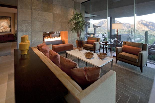 Southwestern Living Room by SWABACK pllc