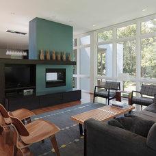 Modern Living Room by Hurst Construction, Inc