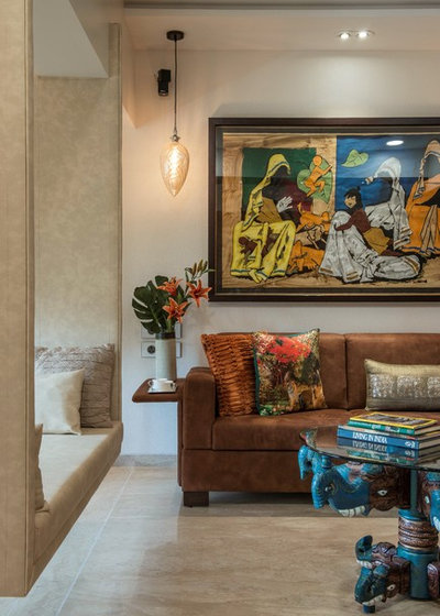 Asian Living Room by Architect Dipa Desai