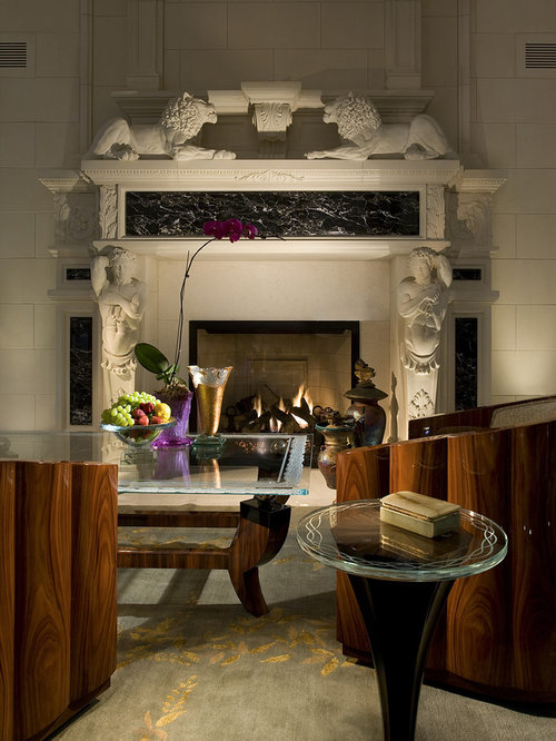 Timeless fireplace houzz for Timeless fireplace designs