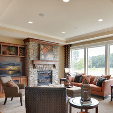 Craftsman Living Room by Architectural Designs