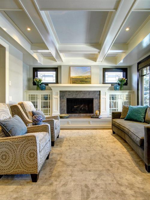 Craftsman Family Room Design Ideas Remodels Amp Photos Houzz