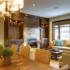 Craftsman Living Room by Rockwood Custom Homes