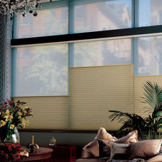 Eclectic Living Room by Window Fashions by Anderson's