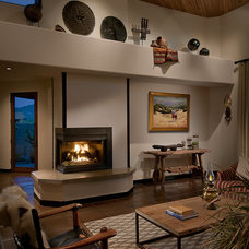 Southwestern Family Room by Angelica Henry Design