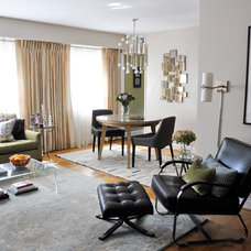Transitional Living Room by CM Glover