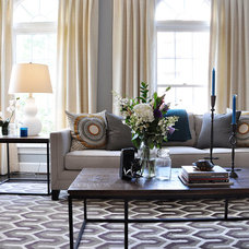 Transitional Living Room by Lapis Ray Interior Design