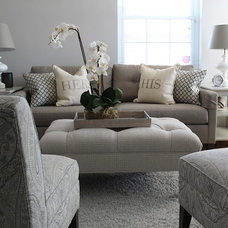 Transitional Living Room by Antoinette Ricafort for Ethan Allen Arlington,Va
