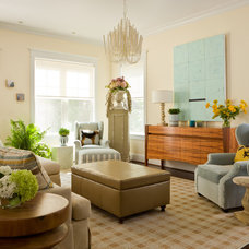 Transitional Living Room by Margaret Carter Interiors