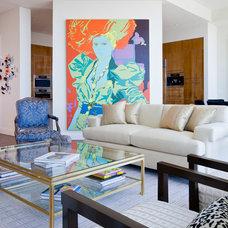 Contemporary Living Room by Bartolomei & Company Interior Design