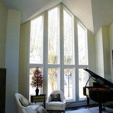 Contemporary Living Room by Matthew Bowe Design Build, LLC