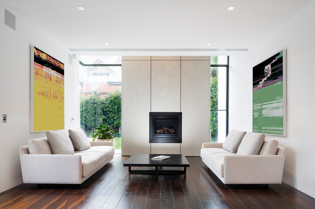 Contemporary Living Room by Mitsuori Architects