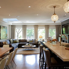 Transitional Living Room by Sealy Design Inc.