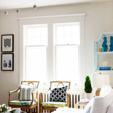 Eclectic Living Room by Laura Collins Design