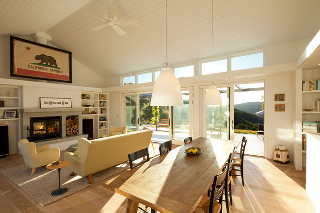 Farmhouse Living Room by Gast Architects