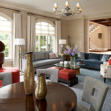 Transitional Living Room by Sandra Oster Interiors