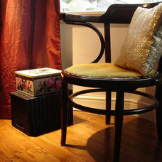 Eclectic Living Room art deco chair