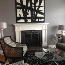 Contemporary Living Room by Rebecca Mitchell Interiors & Boutique