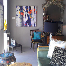 Contemporary Living Room by Andrea Guay Fine Art