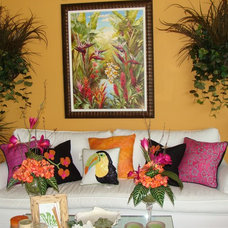 Tropical Living Room by Framing Wholesalers Inc