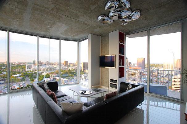 Modern Living Room by Dick Clark + Associates